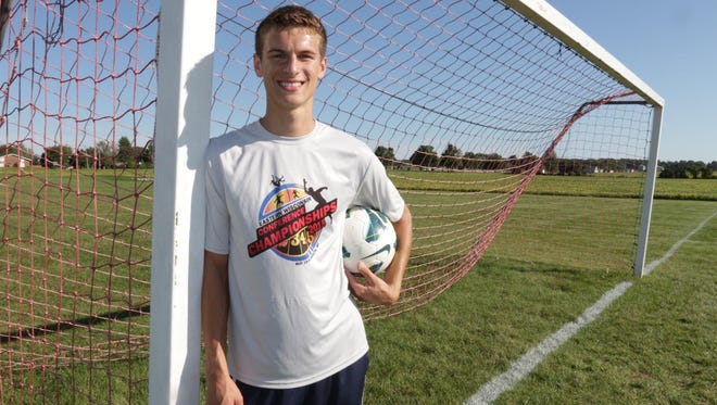 New Holstein senior Jacob Conrad is a two-time first-team selection in the Eastern Wisconsin Conference.