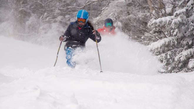 Skiers got fresh tracks on Monday and even found untouched stashes in the trees all week after the massive snowstorm at Vermont's Stratton Mountain.