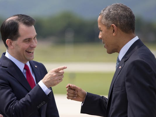 Barack Obama, Scott Walker