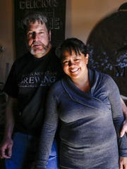 North Mountain Brewing's Rob Berkner and his wife,