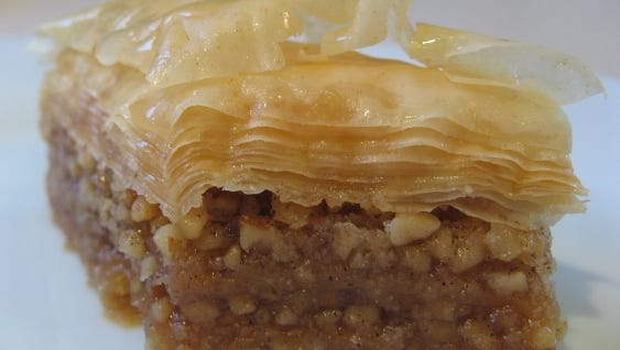 Baklava will be among the many offerings at the Holiday Greek Pastry Sale.