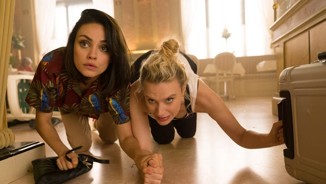 Audrey (Mila Kunis), left, and Morgan (Kate McKinnon) are best friends dragged into the world of international espionage by Audrey's ex-boyfriend in 'The Spy Who Dumped Me.'