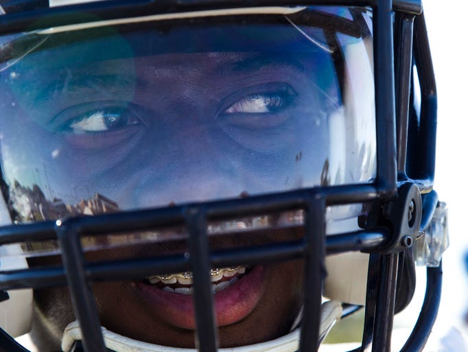 Tyrese Green of McClintock High School football team