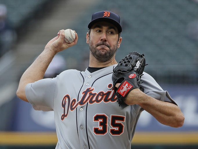 Tigers ace Justin Verlander had six strikeouts through