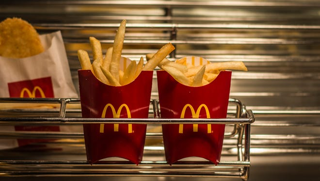 File photo of fries sitting under a heat lamp in the food preparation area at the McDonald's Restaurant, 1725 E. Main St., near downtown Richmond on Friday, Jan. 26, 2018.