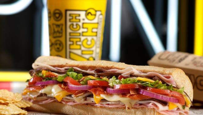 "Which Wich's ""Wicked"" sandwich"