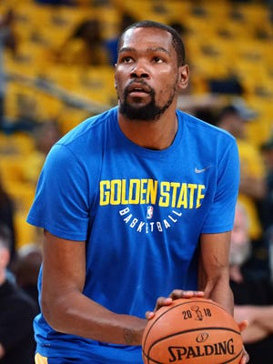 Kevin Durant before Game 2 of the 2018 NBA Finals.