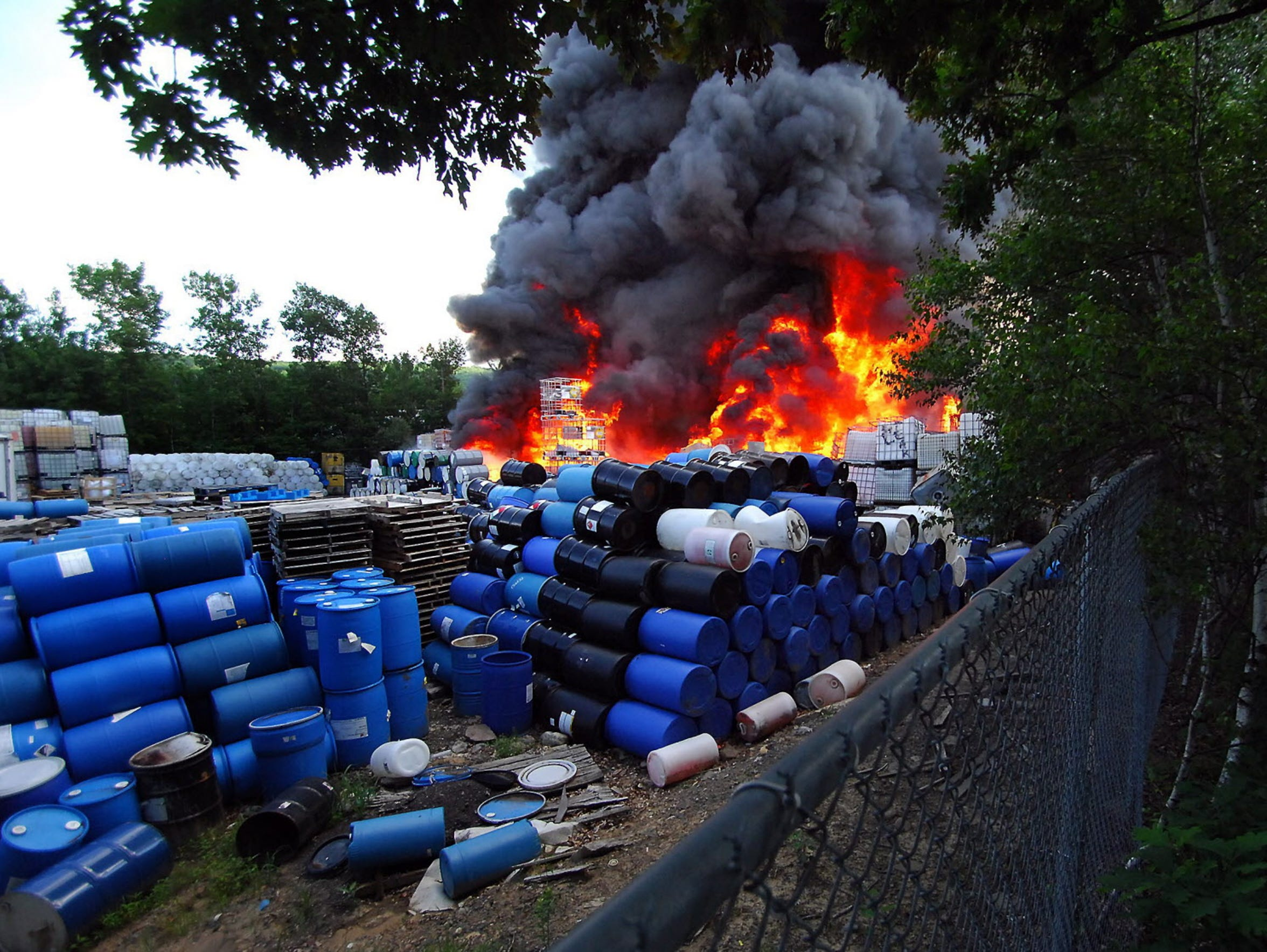 A June 2014 fire at Scranton Cooperage, in Jessup,
