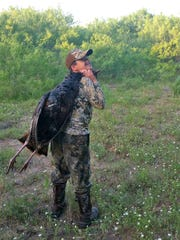 Diego Morales, 11, killed this gobbler while hunting