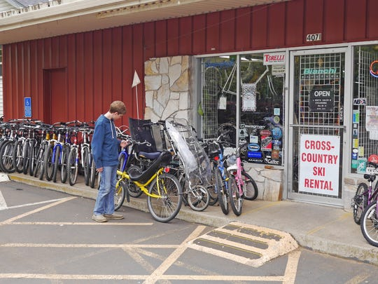 While South Salem Cycleworks offers a wide variety of new bicycles, their store front displays many quality used bikes, many of which can be made to look almost like new.