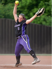 Clarksville High's Madisen Blackwell delivers a pitch