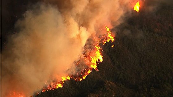 Valley Fire in Lake County. September 12, 2015.