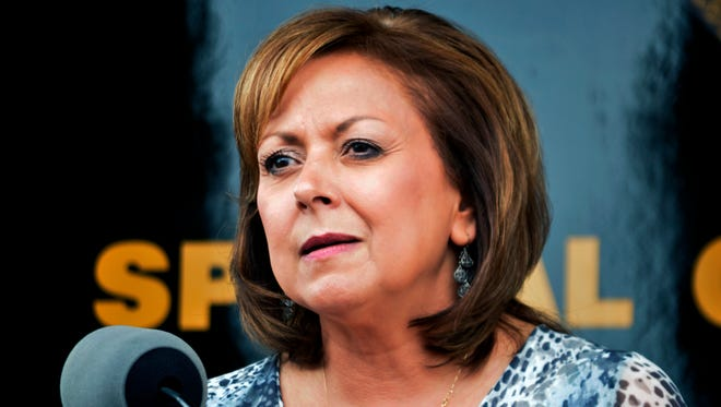 New Mexico Gov. Susana Martinez speaks at a news conference on Sept. 4, 2015, in Albuquerque.
