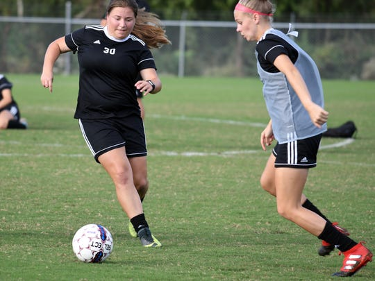 Taylor Gautreaux, a member of the William Carey women's soccer team, returned to soccer practice only three and a half weeks after losing three of her fingers near the knuckles on her right hand.