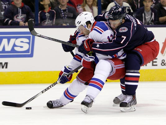 Rangers Blue Jackets Hockey