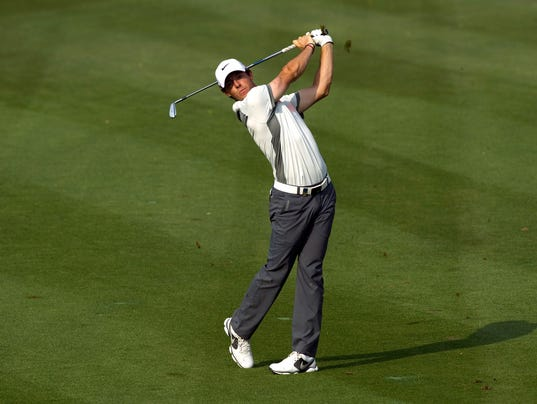 2014-01-31 rory mcilroy swings second day
