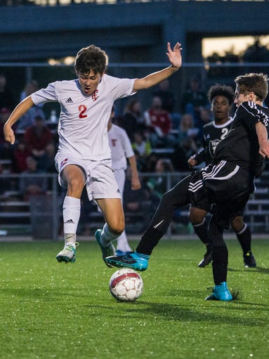 Tosa East midfielder Jack Glynn attempts to steal the