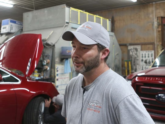 Jame Bartlebaugh, owner of ABS Auto Body Services, talks about running a business next door to Hak's Sports Bar and across the street from the Gold Club. Nearby Fairview Inn is also a cause of concern for the resent rise in crime. The state Department of Justice filed a complaint Thursday to close the Gold Club, calling it a criminal nuisance property that has called police to its location nearly 240 times in the past four years.