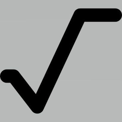 A square root symbol