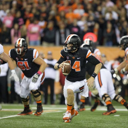 Oregon State's Nick Mitchell started four games at quarterback this season.