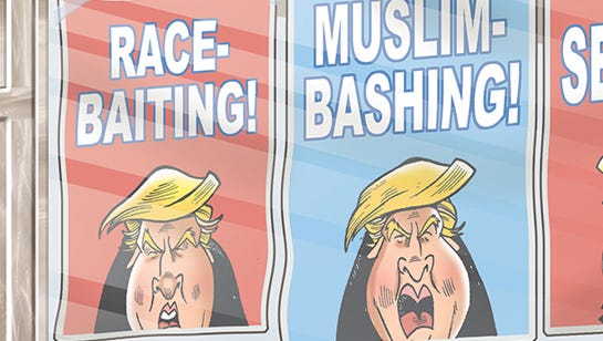 The ugliness of Donald Trump.