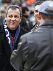 New Jersey Gov. Chris Christie in Green Bay, Wis.,