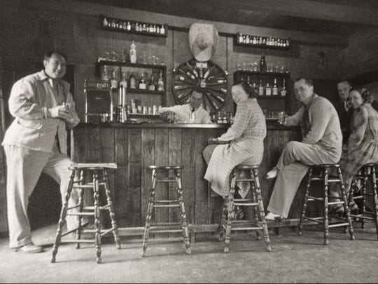 The original bar at El Chorro back in 1937.