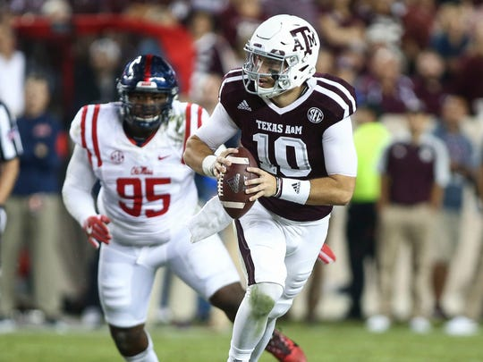 Jake Hubenak saw some time as Texas A&M quarterback