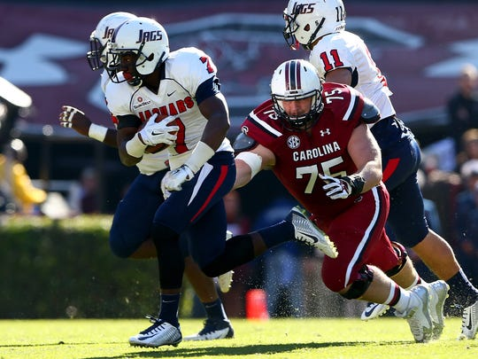 South Alabama quarterback Brandon Bridge (7) could be on the Packers' radar in the late rounds.