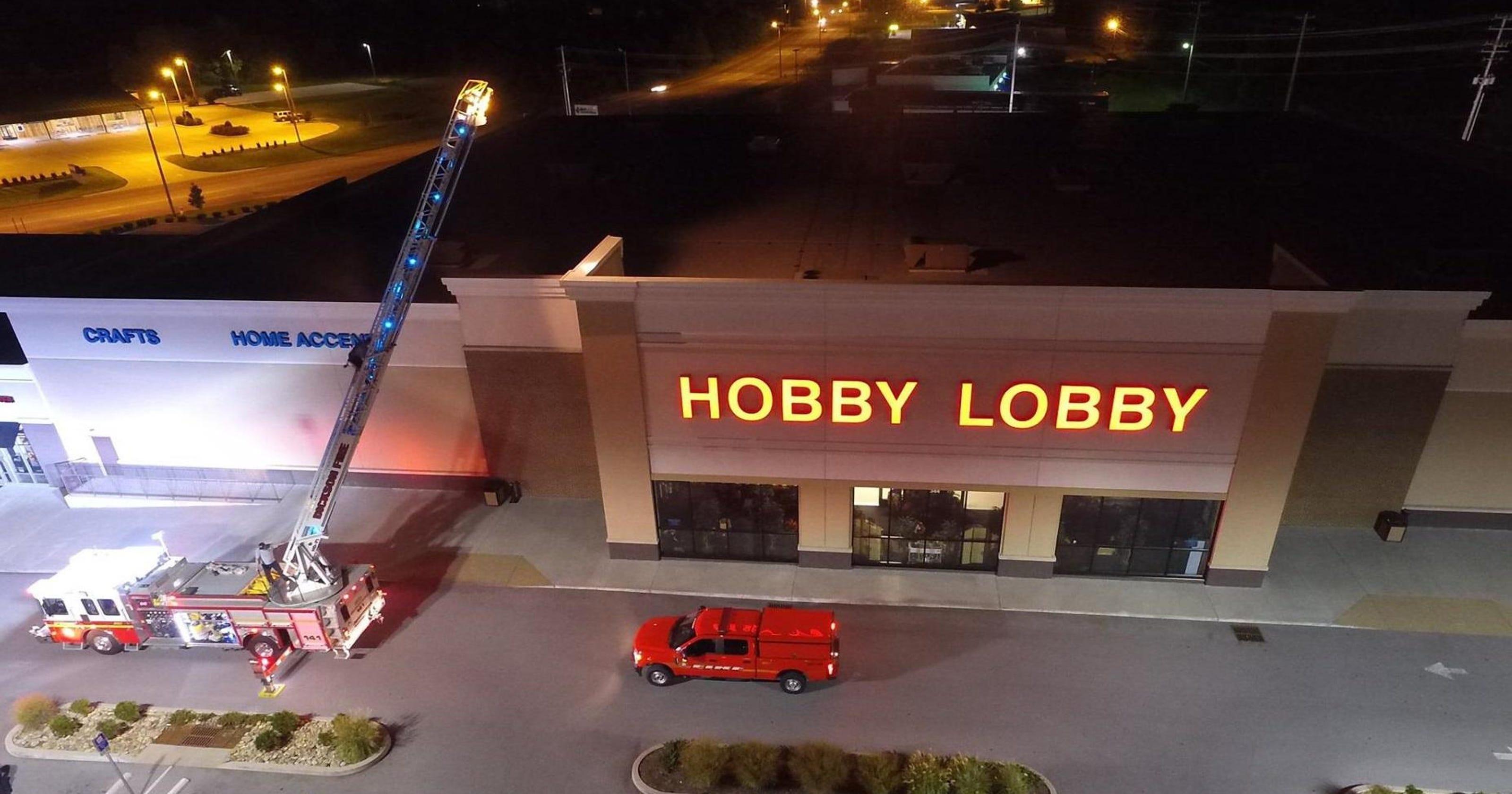 Dickson Hobby Lobby rooftop skateboarder arrested