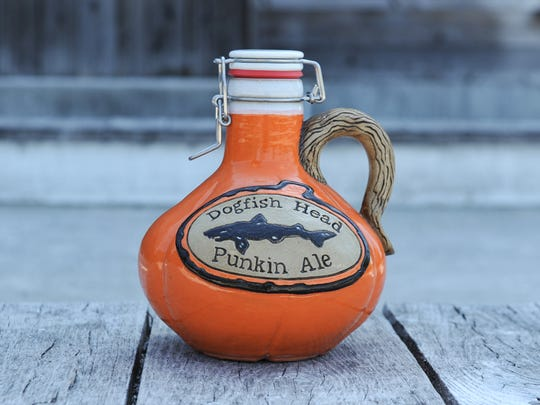Dogfish Head's fall growlers made by Romanick Pottery