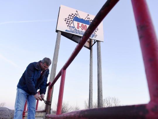 Lyle Howey, owner of I-90 Speedway near Hartford locks