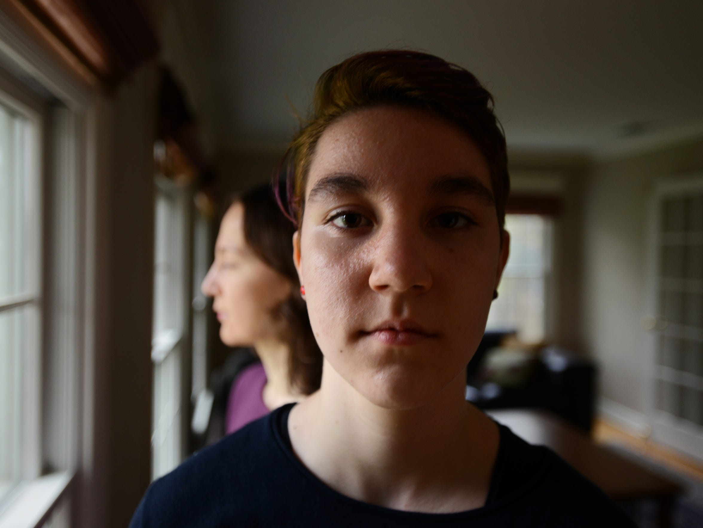 Edison Donovan, 15, pictured with his mother, Irene