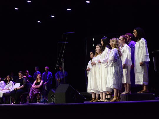 The senior choir performs during Fremont Ross' Baccalaureate