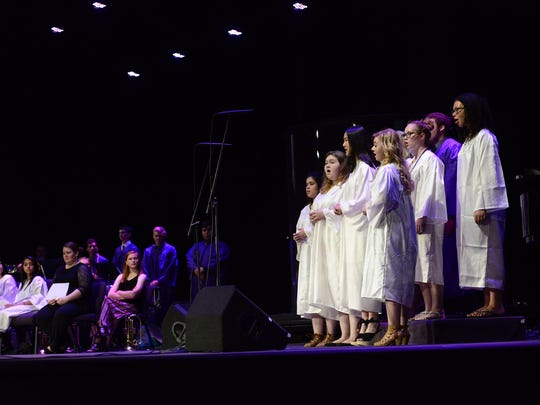 The senior choir performs during Fremont Ross' Baccalaureate services at Grace Community Church on Wednesday.
