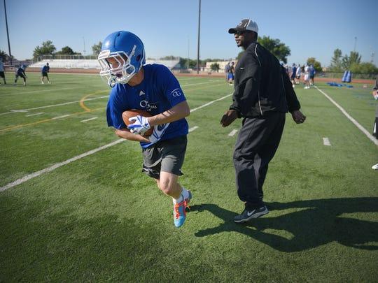 O'Gorman Catholic High School practices Friday, Aug.