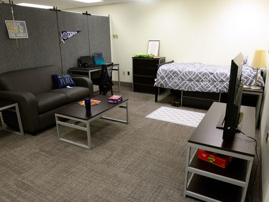A dorm room example at Terra State Community College.