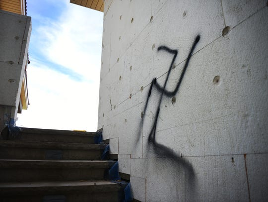 A home at 6800 S Westfield Trail was vandalized Wednesday,