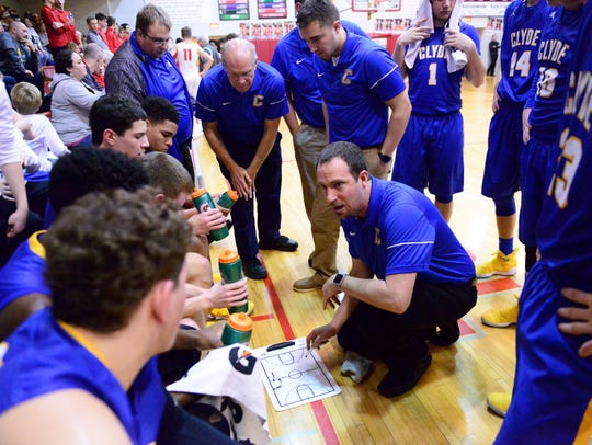 Clyde coach Ryan Fretz focuses on defense first.