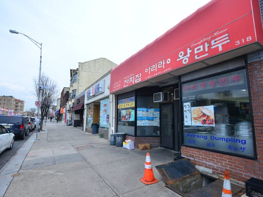 Korean stores on Bergen Boulevard in Palisades Park.