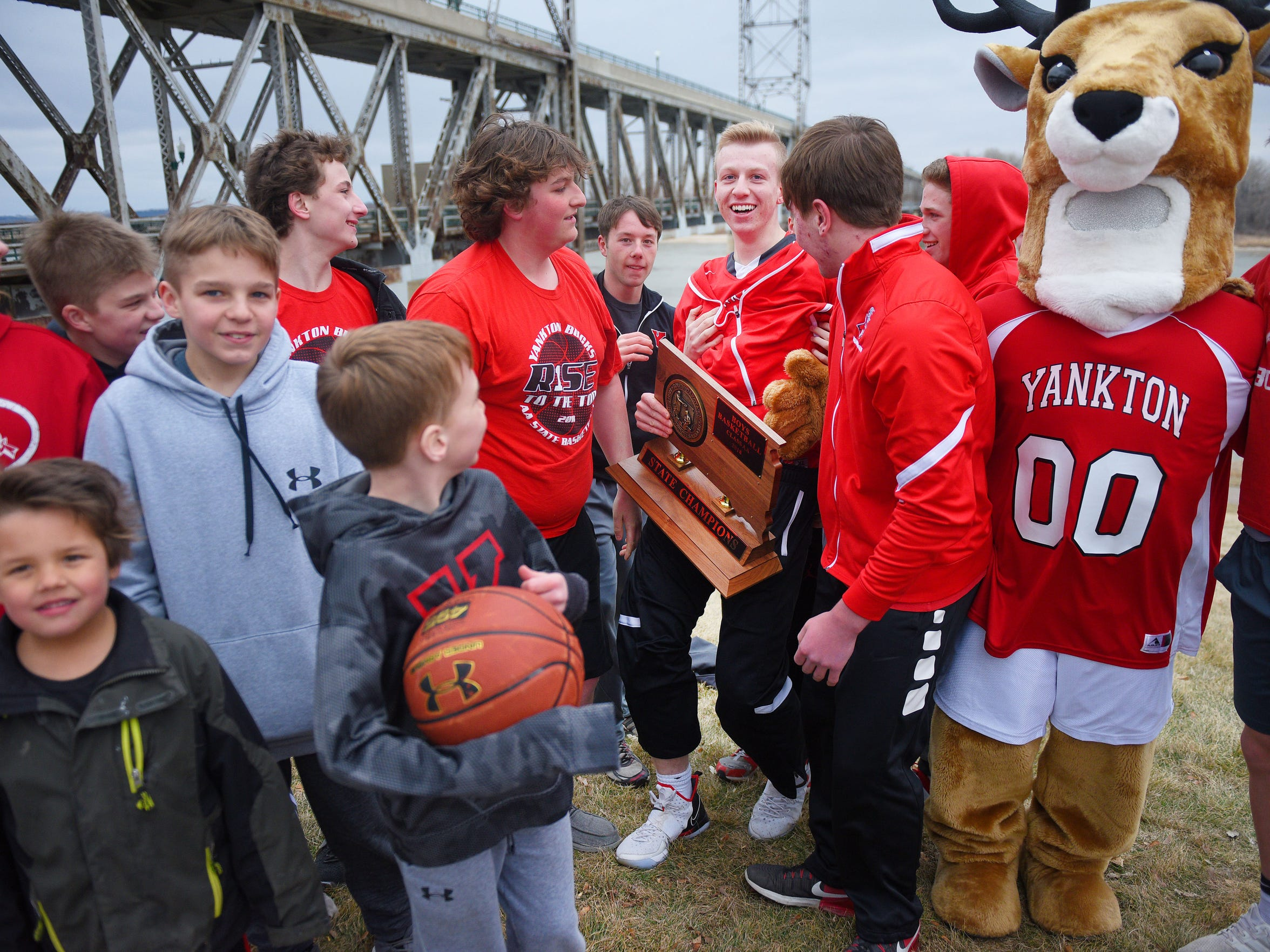 Yankton freshman Matthew Mors for First Five, Wednesday, March 28, at the Meridian Highway Bridge in Yankton.