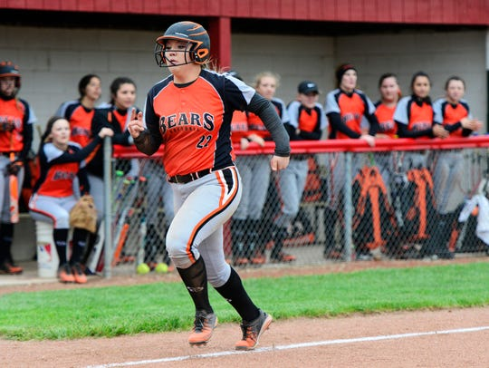Gibsonburg's Jasmine McNett has eight home runs this season.