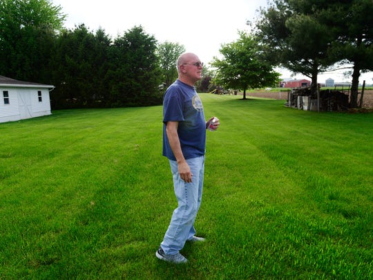 Ron Kelbley lives in Sandusky County, just north of the county line with Seneca County and is opposed to proposed wind energy development that would be visible from his backyard.