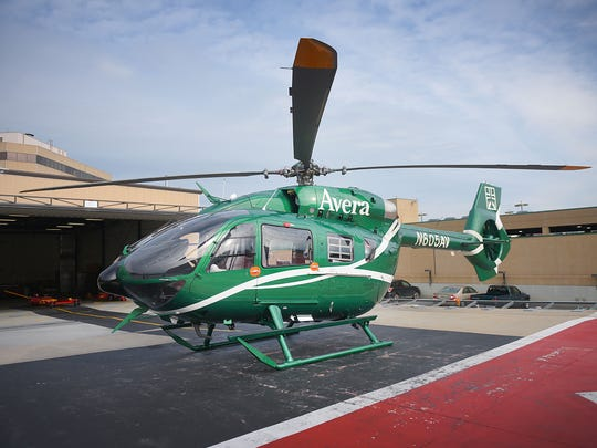 Avera's new Airbus H145 helicopter Friday, June 22,