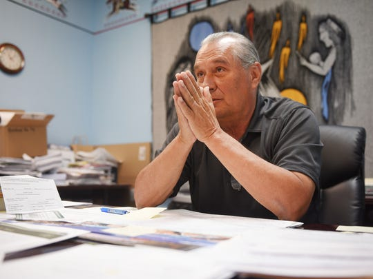 Wayne Boyd, Rosebud Sioux Treasurer, talks about Indian Health Service, IHS, Tuesday, July 31, at the Rosebud Sioux Tribal Offices in Rosebud.