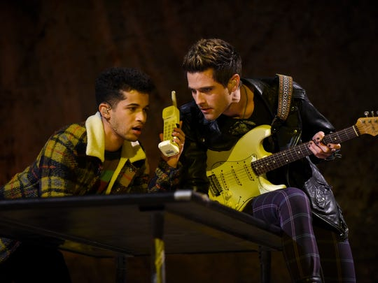 Jordan Fisher and Brennin Hunt starred in the production playing friends Mark and Roger.
