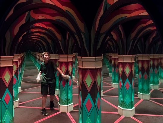 The Island's mirror maze on Monday, June 4, 2018.