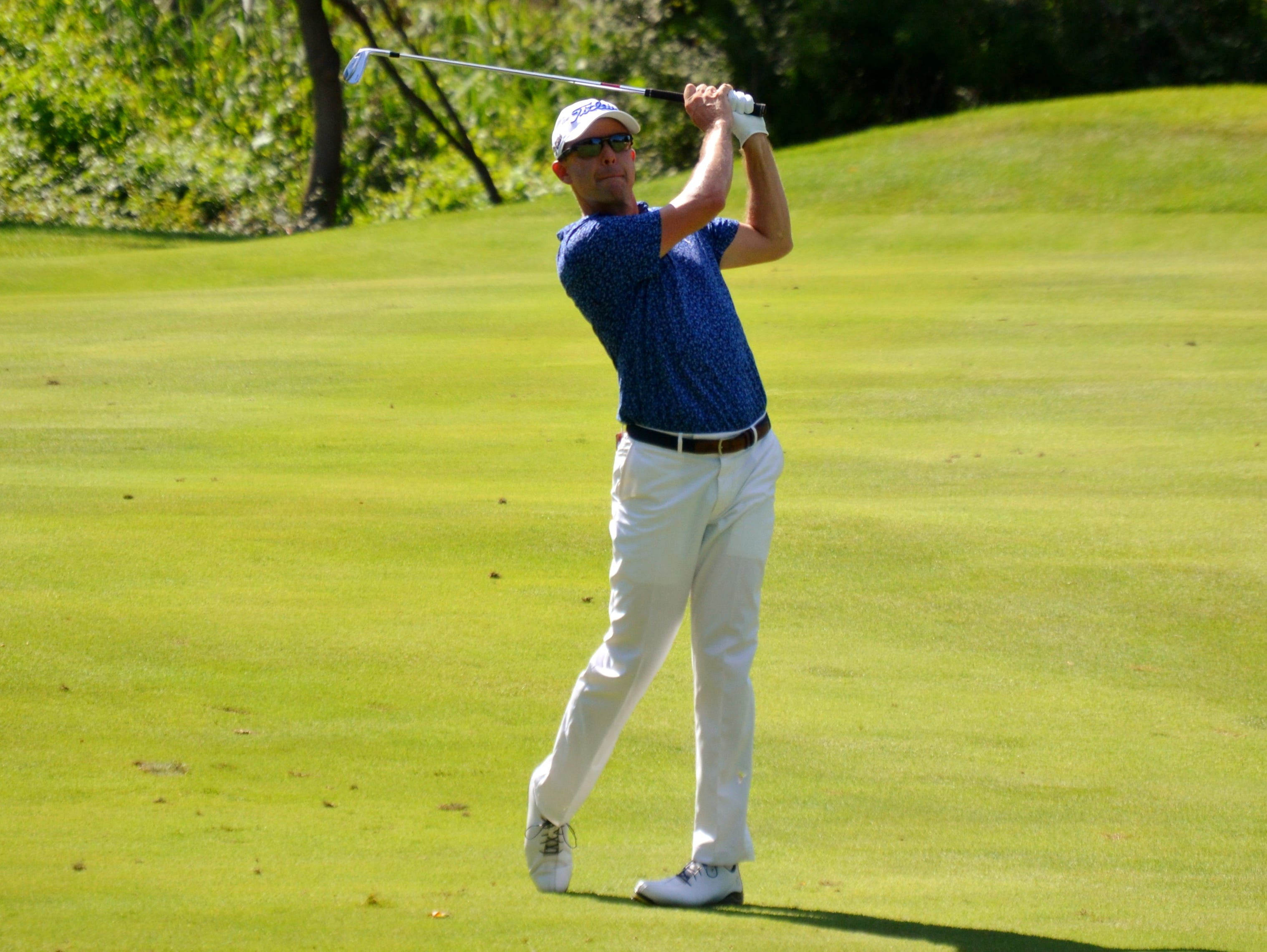 GlenArbor director of golf Rob Labritz opened the 94th Westchester Open with a 7-under 65 on his home course. He is one shot off the lead heading into the final 36 holes on Wednesday.