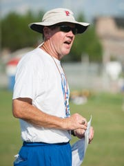 Head coach Kent Smith during Pace High School football