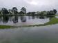 A retention pond overflows off U.S. 1 near Jensen Beach